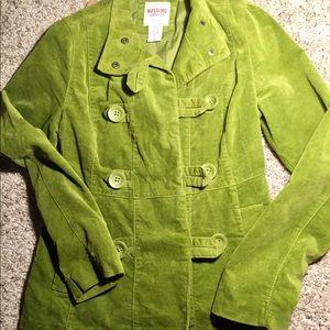 Green velvet mission jacket